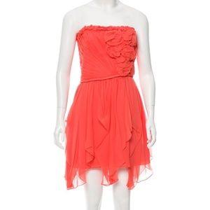 Robert Rodriguez Silk Chiffon Coral Dress